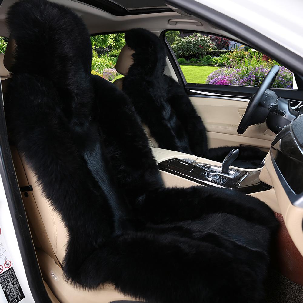 澳洲冬季纯羊毛汽车坐垫狼皮座垫皮毛一体坐套加厚保暖真皮通用冬