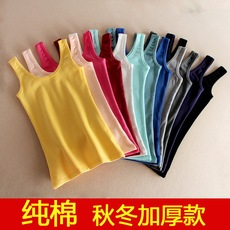 Combed cotton padded vest