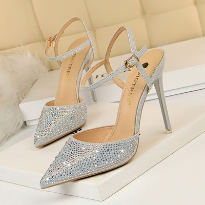 86-23 han edition style banquet high with fine with shallow mouth pointed hollow out colorful bright diamond one word wi