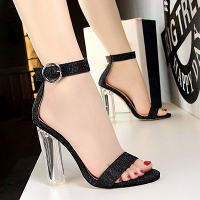 European and American fashion sexy 29-1 club for women's shoes with circular transparent crystal with high temperam