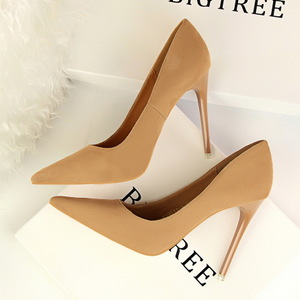 9511-1 the European and American fashion contracted wind with ultra fine with shallow mouth pointed suede show thin and
