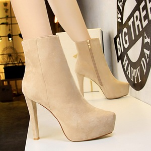 9657-6 European and American fashion contracted wind knight boots high with waterproof suede show thin and sexy nightclu