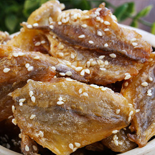 椒盐奇超250g鱼片小吃香辣黄花芝麻2件包邮蜜汁蜜汁鱼干辣味海鲜下鸭脖图片