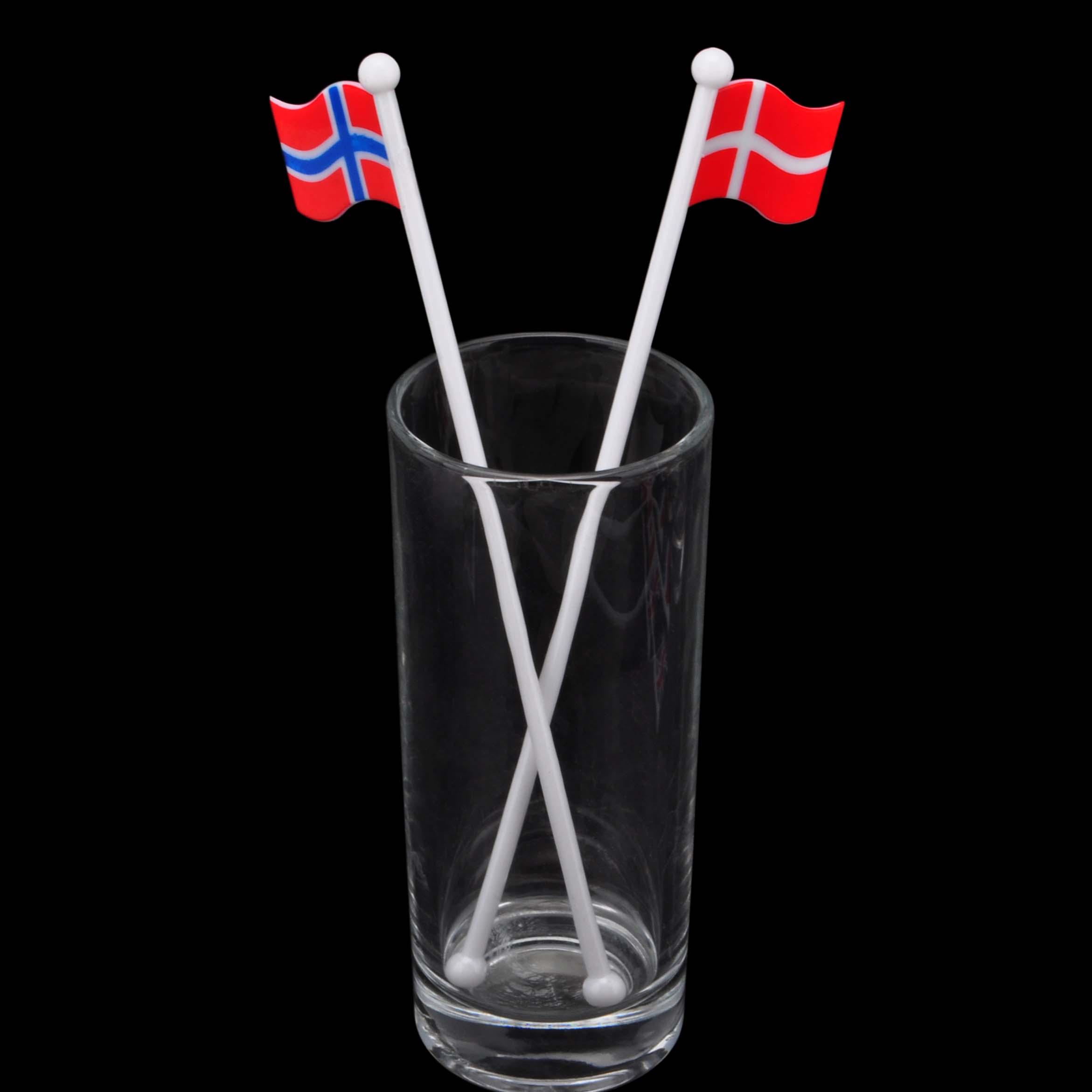 莱珍斯创意国旗款饮料咖啡奶茶鸡尾酒搅拌棒国旗棒特饮调酒棒