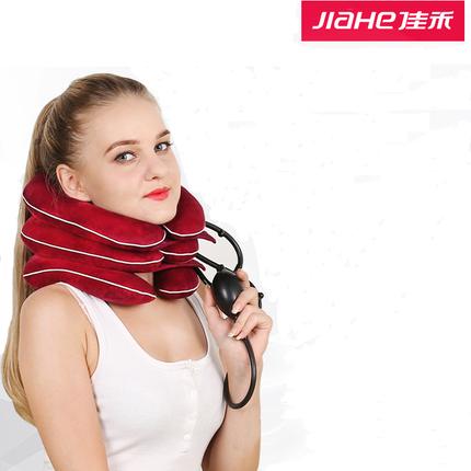 佳禾颈椎牵引器充气家用颈部拉伸按摩器医用护颈托矫正治疗器成人