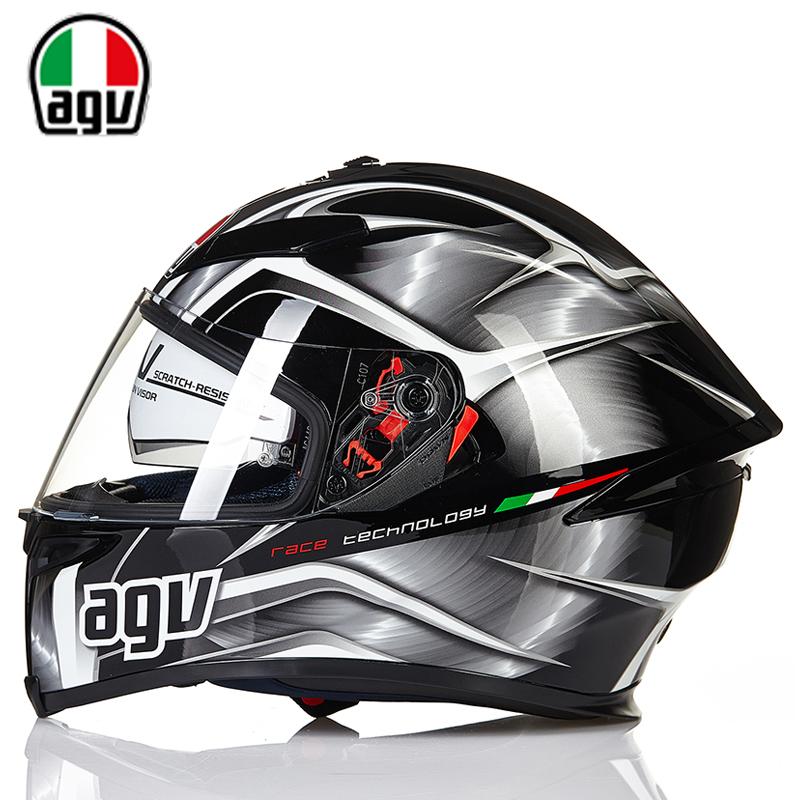 AGV K5头盔男女防雾摩托车赛车全盔覆式四季冬季保暖双镜片安全帽