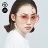 音米六边形眼镜无边框墨镜女渐变太阳镜网红眼镜女新款透明太阳镜