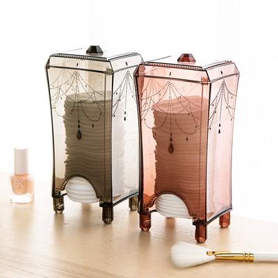 Desktop cotton pad storage box cotton box cotton remover cotton storage box plastic transparent box