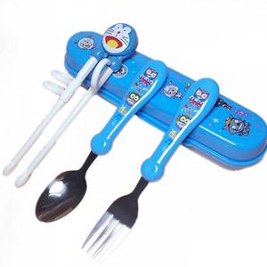 儿童练习筷子不锈钢学习训练筷餐具婴儿宝宝学习筷子餐具训练套装
