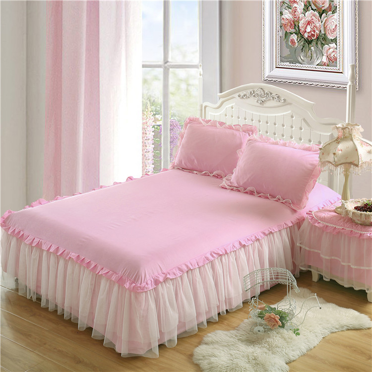 Korean Version Of The Lace Bed Skirt Single Piece Princess Wind Bed Set