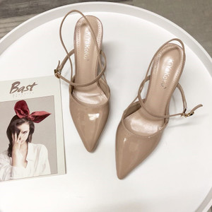new_goods/Simple thin with high heel shallow mouth pointed patent sexy...