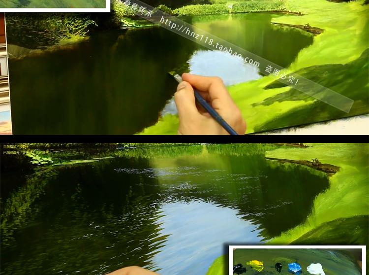 英国大师超写实油画风景 油画教程视频技法 3dvd 教学