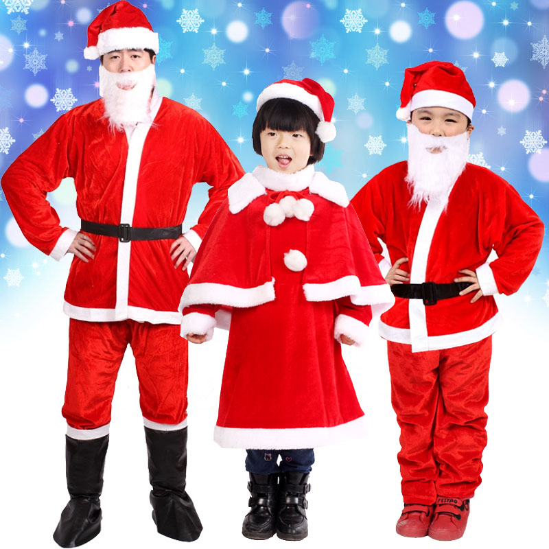 Christmas Costumes Santa Cloths for Kids and Adults 943746