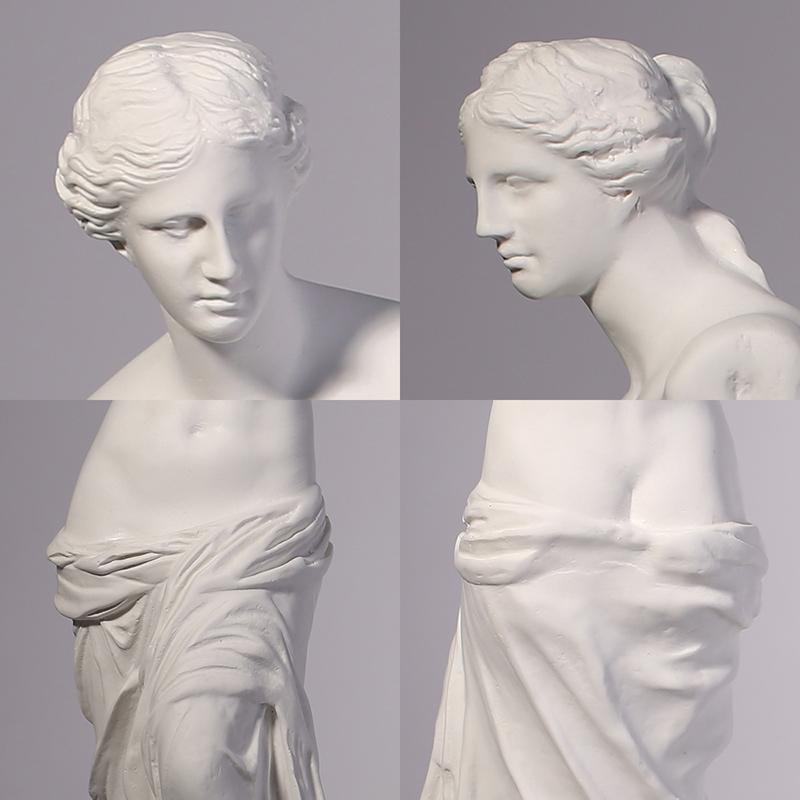 Гипсовая статуя 艺术生临摹专用道具 室内摆件欧式人物树脂仿石膏断臂维纳斯雕塑