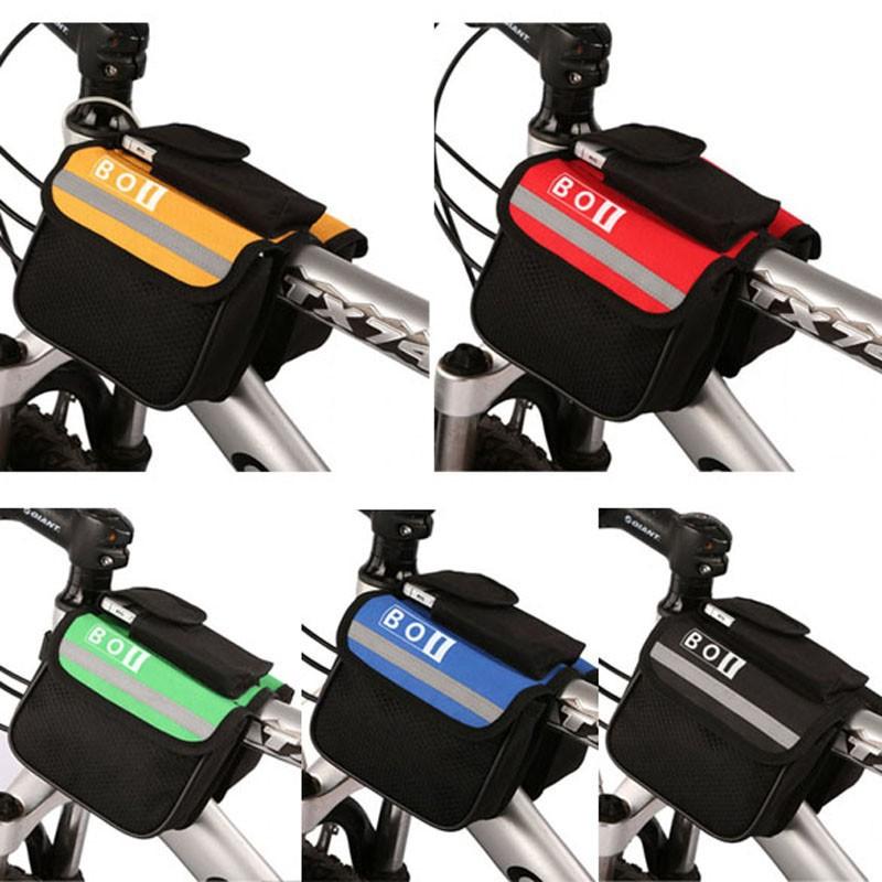 乐炫boi12850自行车上管包手机触屏包山地车马鞍包双边包_7折现价广告电话器图片