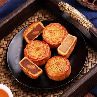 侨香村广式月饼40g 蛋黄莲蓉豆沙蛋黄老式中秋月饼传统手工礼盒装