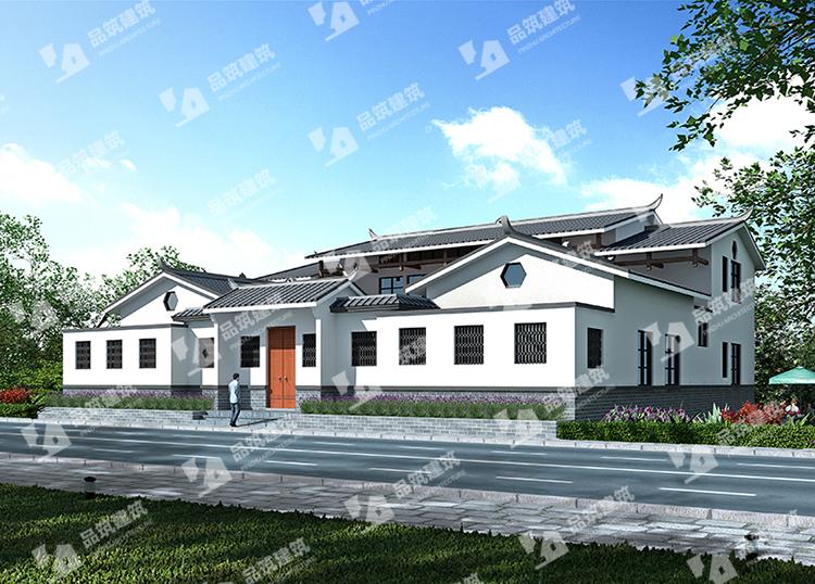 农村一模型新中式四合院别墅自建房设计图全套纸箱图纸二层纸板图片