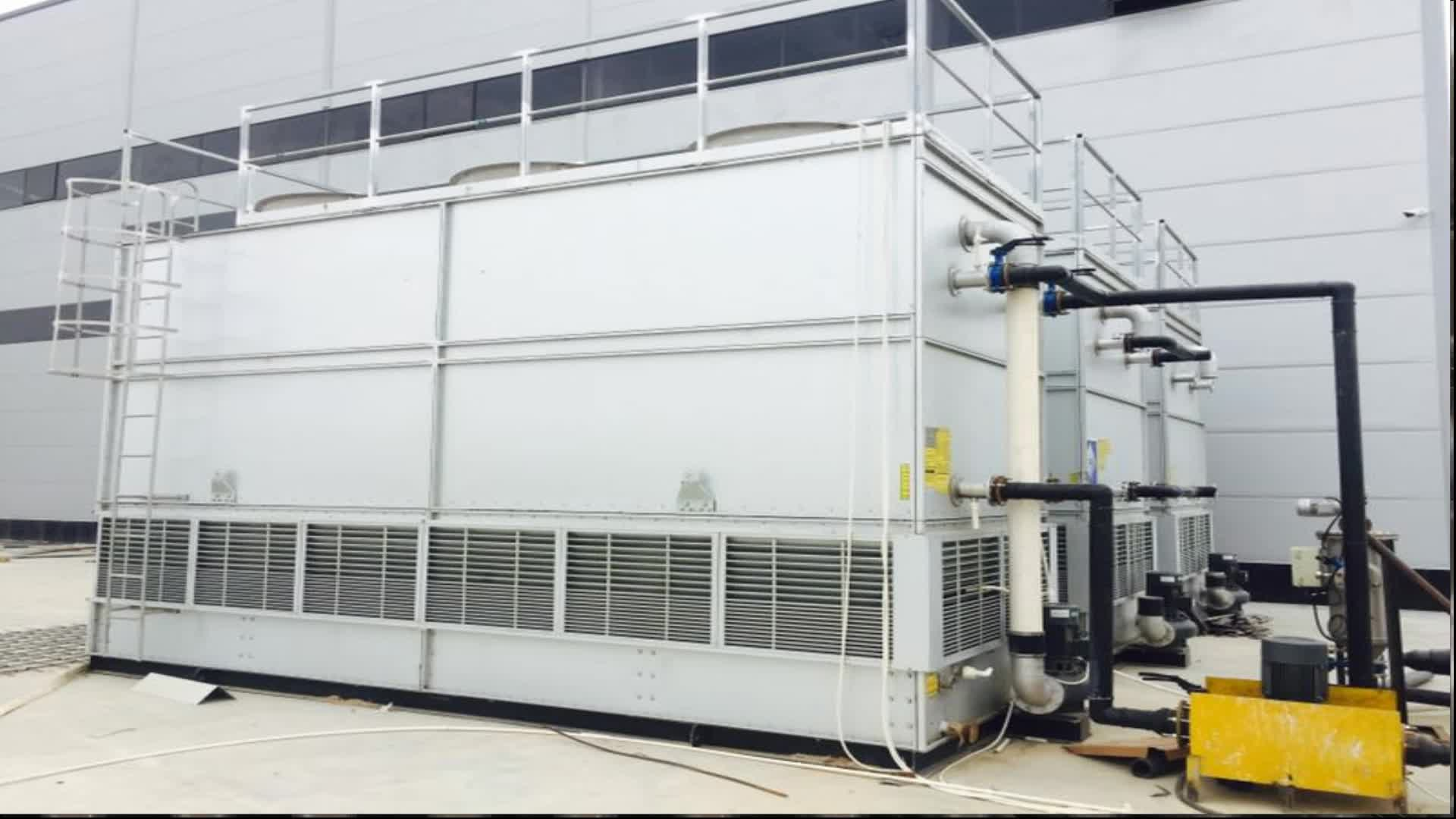 Counter flow closed type water cooling tower for low temperature environment