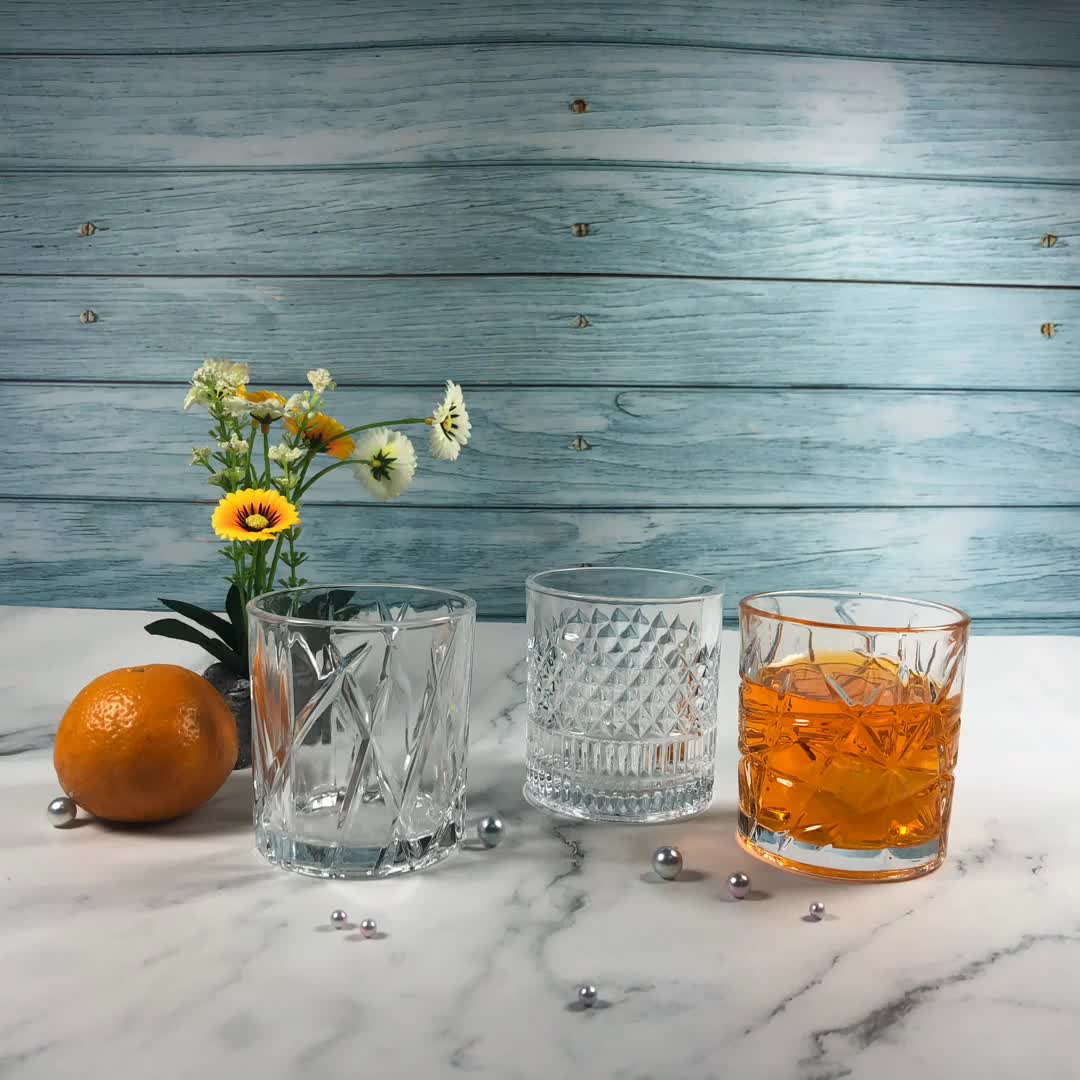 New design 8oz Crystal Cheap engraved juice glass cup