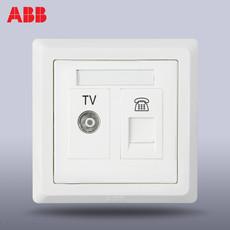 Розетка TV+телефон ABB 86 AE324