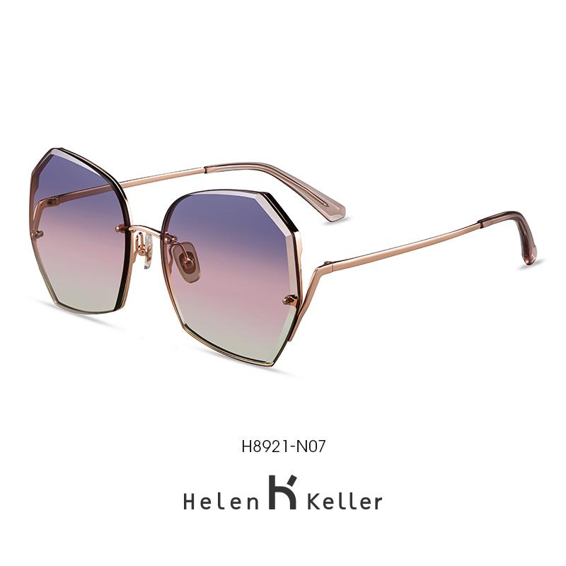 海伦凯勒2020年新款街拍大框太阳镜女舒适偏光防紫外线墨镜H8921