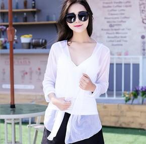 短款防晒衣女夏韩版学生修身显瘦薄款透气沙滩开衫