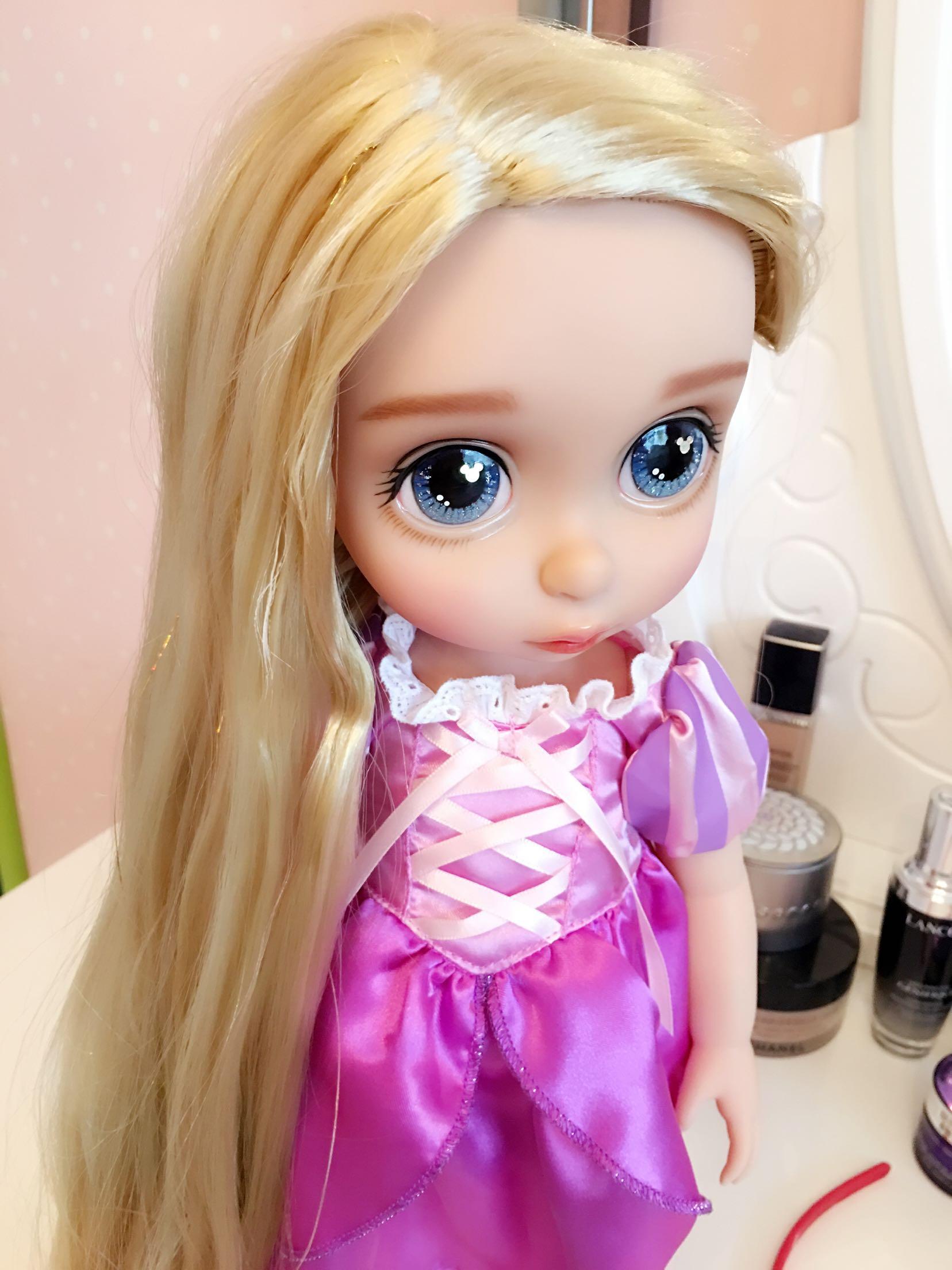 【vivian嗲】改妆迪士尼公主娃娃手续长发接妆办娃娃证需要什么沙龙图片