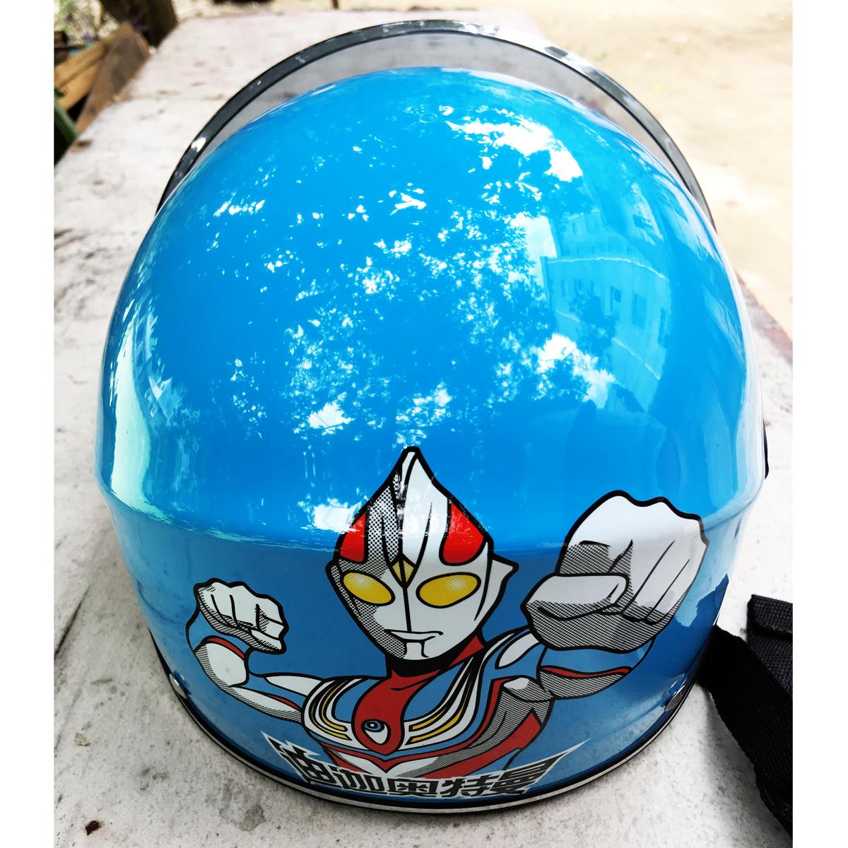 新品奥特曼儿童头盔夏季摩托车头盔女电动摩托车小孩安全帽包邮
