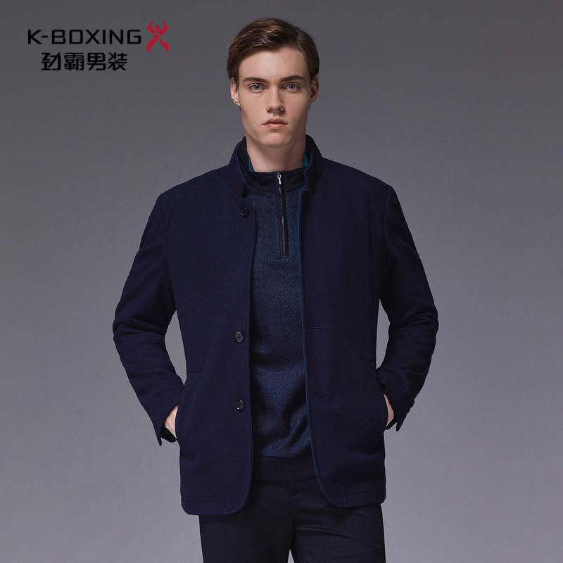劲霸男士秋季夹克外套时尚外套毛呢茄克|BKWL3232