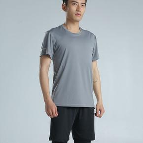 路伊梵跑步速干运动套装男夏季运动服男士短袖短裤跑步健身运动服