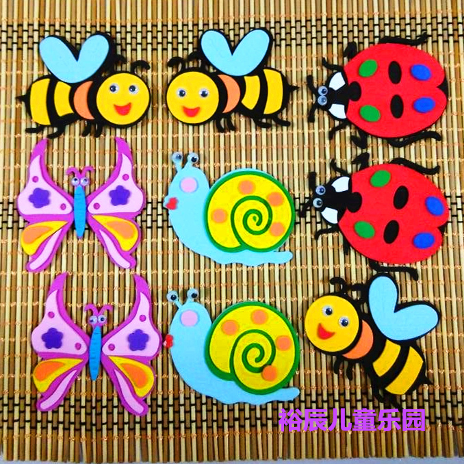 新款教室幼儿园儿童蜜蜂挑选蝴蝶房布置3d甲虫昆虫蜗牛墙面小学怎样装饰迷你宝蓝鹦鹉