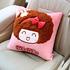 摩丝娃娃汽车抱枕车用靠垫可爱卡通护腰靠枕车枕头一对套装四季