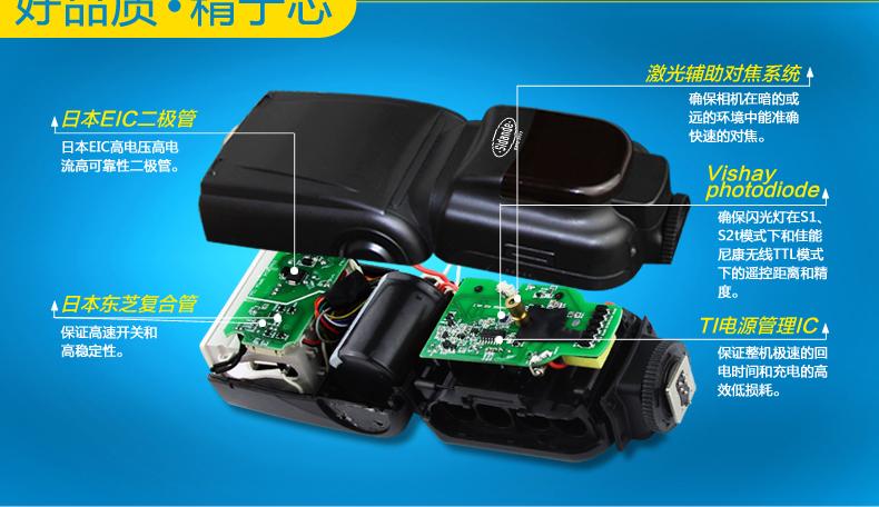 斯丹德 单反相机闪光灯专业通用高速同佳能7d 5d2尼康d7000 d7100