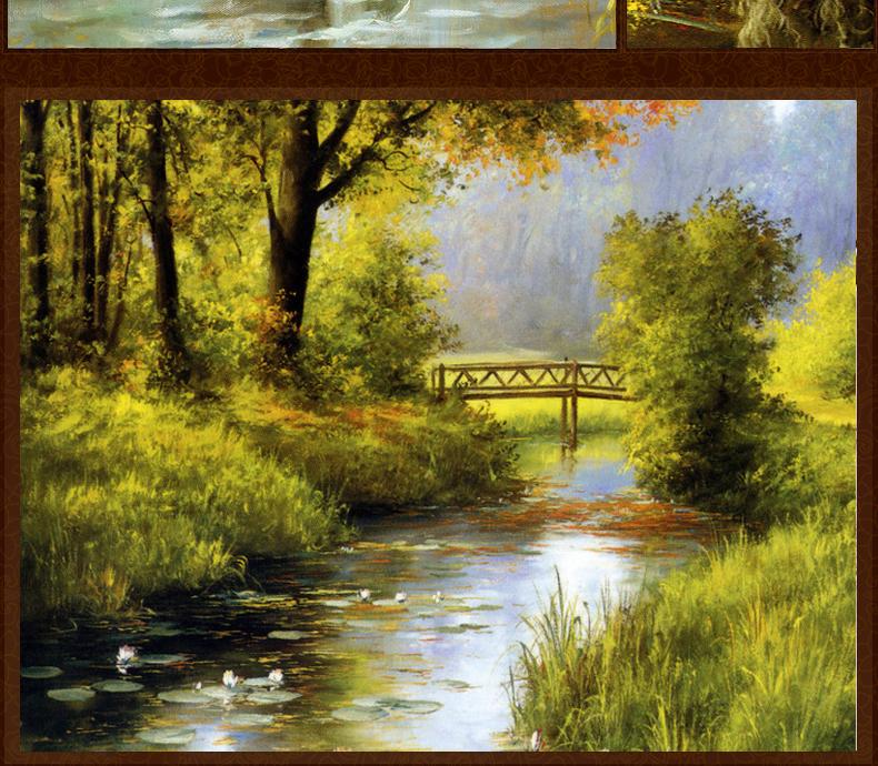 手绘油画组合纯手绘沙发背景挂画现代简约欧式壁画