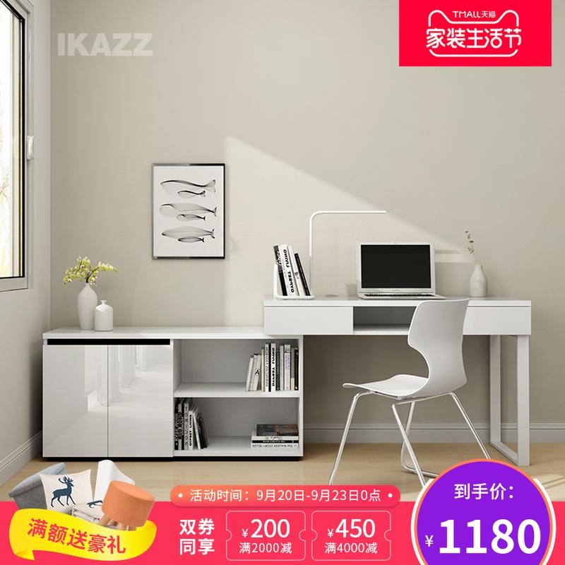 简约现代转角书桌书架柜组合学习桌办公桌台式特价电脑桌MSK