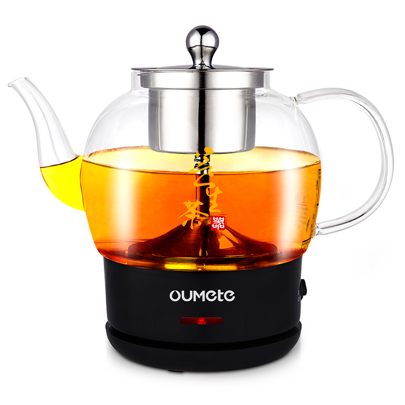 欧美特煮茶器黑茶全自动蒸汽式玻璃家用办公室小型电热水壶养生壶