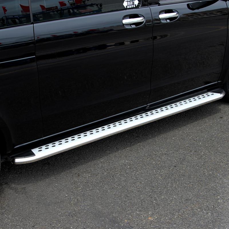 专用于16-18款奔驰新威霆侧踏板 V260L脚踏板 商务车改装迎宾踏板