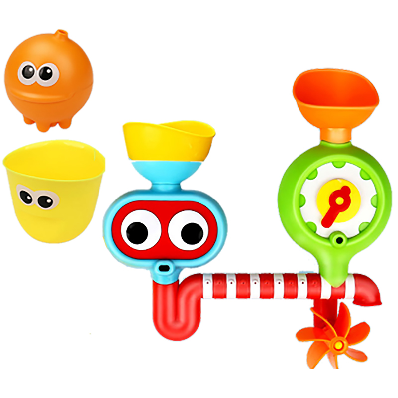 Baby bath toy turn around music toys baby children play water faucet ...