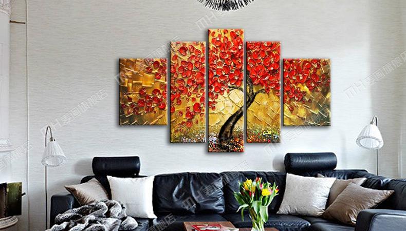 【天天特价】纯手绘油画客厅沙发背景墙装饰画无框画