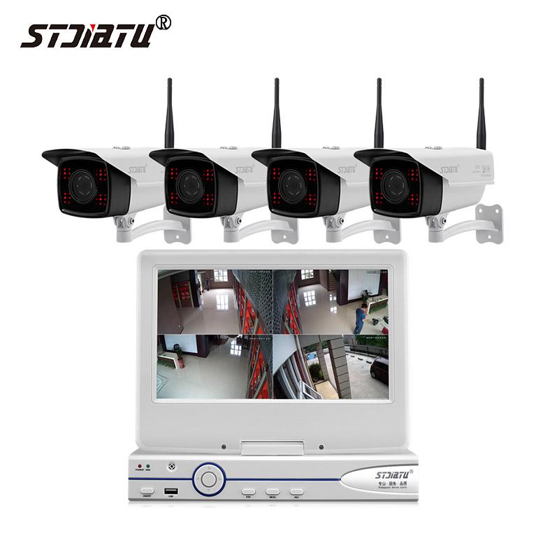无线监控设备套装wifi一体机200万夜视网络高清监控器家用带录音