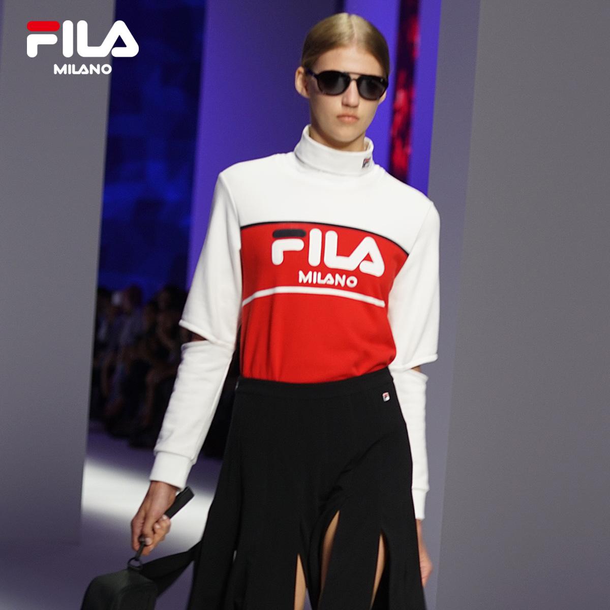 FILA米兰时装周ICONIC系列SNBN限定款 秀场同款 女子针织套头卫衣