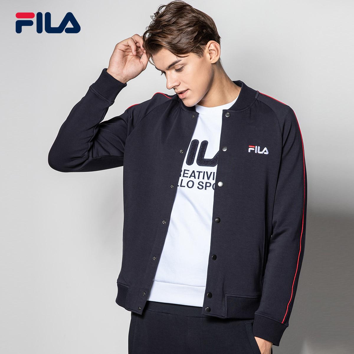 FILA斐乐外套2018秋季新款休闲运动男外套易搭简约潮流时尚上衣男