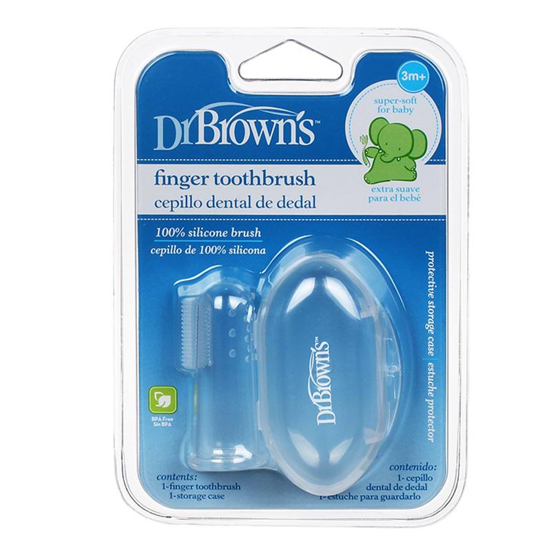 布朗博士牙刷婴儿硅胶手指牙刷婴儿牙刷儿童乳牙牙刷宝宝口腔清洁
