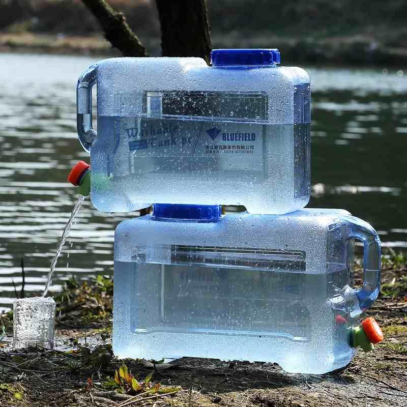 BLUEFIELD 户外车载PC 四方水桶储水矿泉水饮水机储水桶