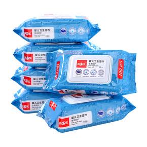 婴儿湿纸巾100抽*6包