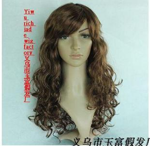 Seven Queen Street sweet fashion women can Qi oblique bangs long hair wig wire at room temperature the whole package mail