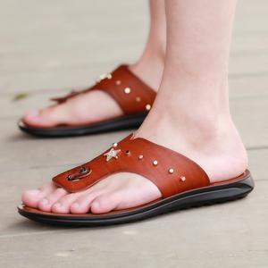 夏季男士凉鞋外穿休闲沙滩鞋防滑防水两用拖鞋男夏天潮男人字拖男