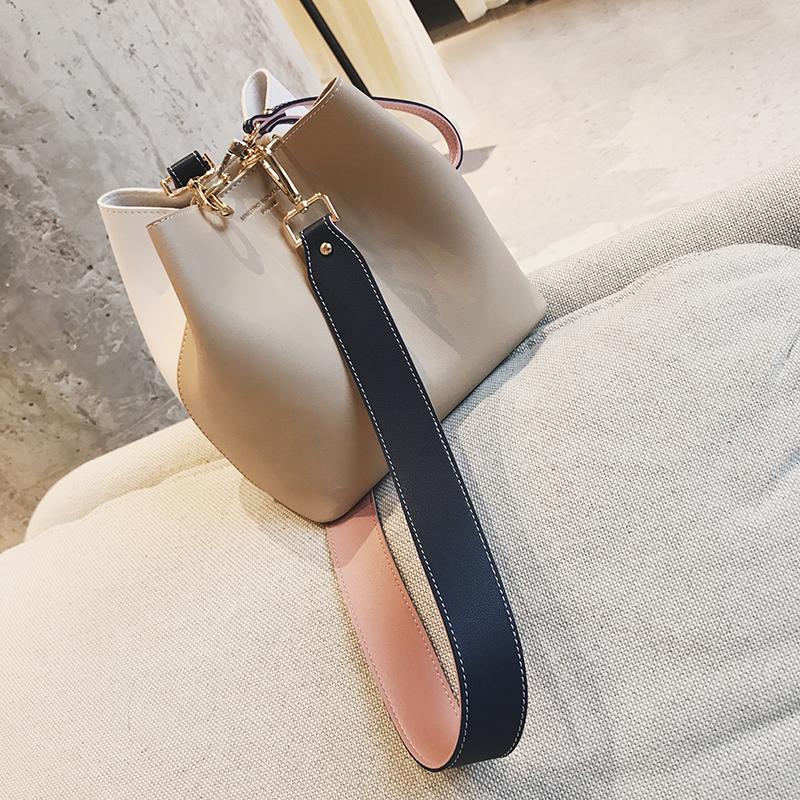 【南风】南定六周年回馈款水桶包女2017夏新款欧美纯色单肩斜跨包