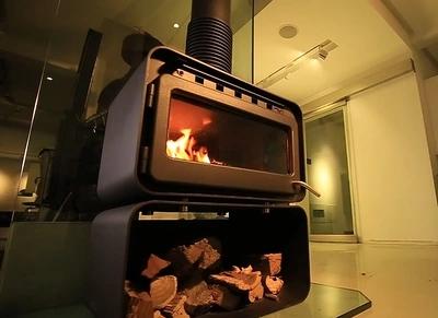 圣罗曼壁炉真火燃木柴客厅家用现代简约 独立式铸铁取暖火炉 CUTE