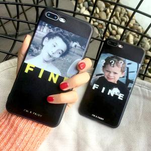 潮表情包男孩女孩仙女手机壳苹果X十10防摔手机壳软iPhone786P